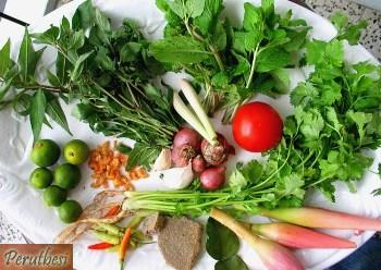nasi ulam ingredients